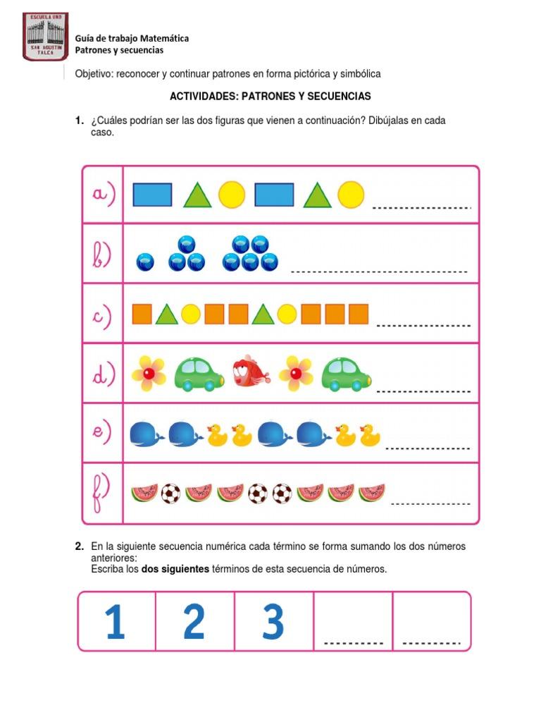 Excelente Patrones Matemáticos Hoja De Trabajo Inspiración - hojas ...