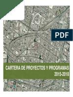 Planes Maestros Cartera de Proyectos 2015-2018