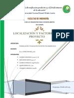 Localizacion y Tamaño Del Proyecto- Informe Final