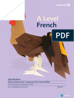 Specification GCE a Level L3 in French