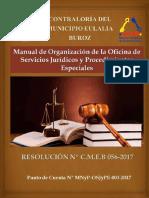 Manual de Organización de la Oficina de Servicios Jurídicos y Procedimientos Especiales de la Controlaría del municipio Eulalia Buroz