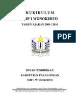 KURIKULUM (KTSP) SMP 1 WONOKERTO