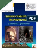 228568627 Elaboracion de Precios Unitarios Base Para Operaciones Mineras