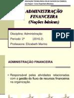 ALUNOS - 6ª Aula - Adm Financeira - Introdução 2016.2