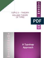 Topik 3 - Holland's Theory