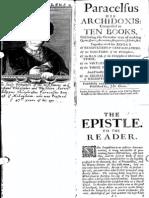 Paracelsus-Archidoxis Comprised in Ten Books 1660