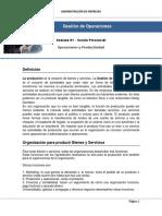 Resumen Sesión 01 - Operaciones y Productividad