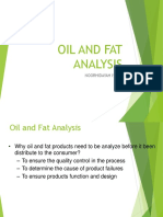 Oil and Fat Analysis