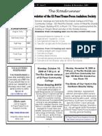 Oct-Nov 2009 Roadrunner Newsletter El Paso Trans Pecos Audubon Society