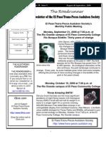 Aug-Sep 2009 Roadrunner Newsletter El Paso Trans Pecos Audubon Society