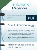 Presentation on VAAS Devices-1
