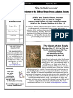 Apr-May 2010 Roadrunner Newsletter El Paso Trans Pecos Audubon Society