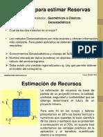 Cálculos Estimacion Recursos Reservas