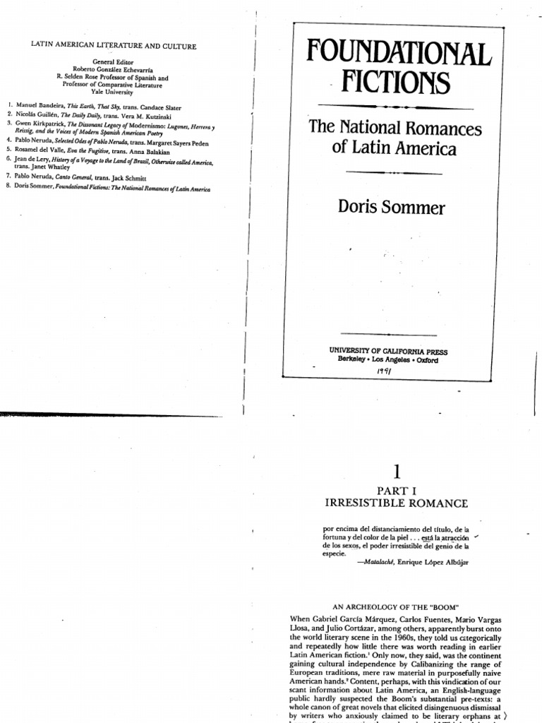 Doris sommer foundational fictions chapter 1 part 1 and 2 fandeluxe Images