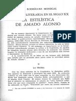 147.La Critica Literaria en El Siglo XX-La Estilistica de Amado Alonso