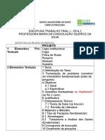 Estrutura Projeto de Pesquisa TF I