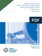 Final NTSB report on Lockhart crash