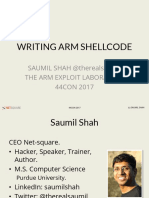 ARM Shellcode Workshop 44con2017