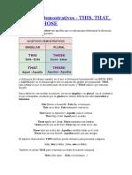 Demostrative Adjectives