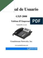 GXP-2000 User Manual_1.0.1.14_Spanish[1]