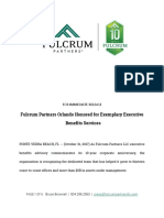 Fulcrum Partners Orlando Honored for Exemplary Executive Benefits Services