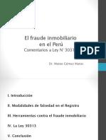 21-Fraude Inmobiliario y Comentarios a La Ley 30313 x MGM 2015