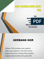 Gerbang Logika Nor (Not or) Kelompok 6