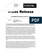 Press Release Prosecuting Attorney Cotter Files Report