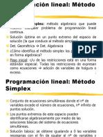 Optimización Lineal Simplex