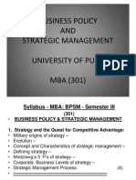Business Policy and Strategic Managment