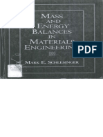 Mass & Energy Balances in Materials Engineering_Mark Schlesinger