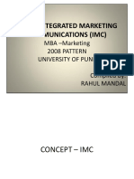 Integrated Marketing Communications (IMC) Notes