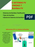 2016 FV UNIDAD 7 Aplicaciones  de Bombeo FV.ppt