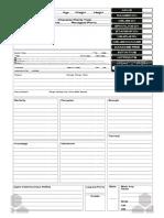 Blank Character Sheet Fillable
