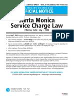 California SantaMonica Service Charge Law
