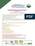 Relatório - III Seminário de Agroecologia