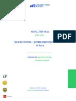 Newsletter 25 - Taxare Inversa Pt Oper Realizate in Tara