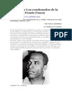 Reseña de Los Condenados de La Tierra de Frantz Fanon