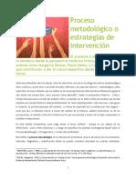 Texto Proceso Metodologico o Estrategia Metodologica
