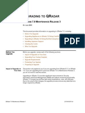 QRadar 70MR3 Upgrading   Computer Architecture   Computing
