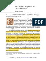 Questões Relativas à Reforma Do Cpc Lbr