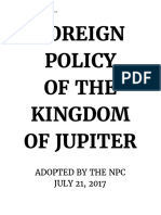foreign policy of jupiter