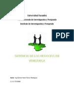 GERENCIA DE NEGOCIOS EN VENEZUELA