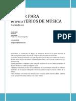 Taller Para Ministerios de Música