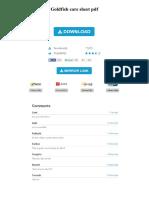 Goldfish Care Sheet PDF