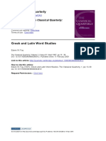 Fay, Edwin W - Greek and Latin Word Studies