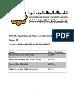Auditorium design project report