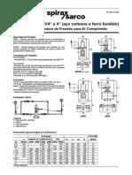 25PA e 25PAE 1-4 a 4 (Aço Carbono e Ferro Fundido) Válvulas Redutora de Pressão Para Ar Comprimido-Technical Information