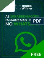 As 100 abreviacoes em ingles para whatsapp