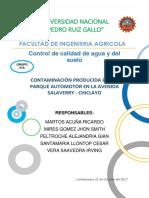 La Principal Causa de La Contaminación Del Aire en El Perú Es El Parque Automotor EQUIPO 8